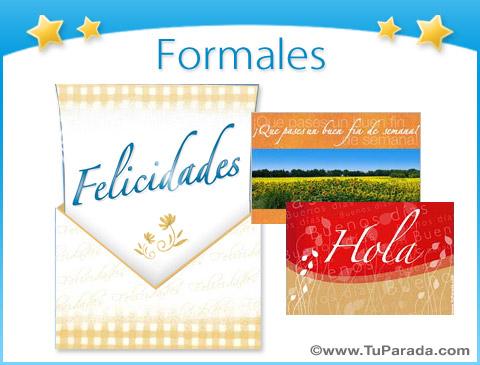 Tarjetas de Formales