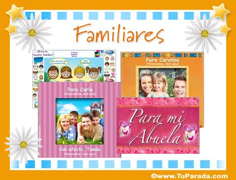 Tarjetas de Familiares