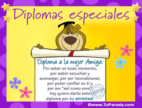 Tarjetas de Diplomas especiales