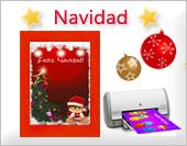 Tarjetas para imprimir de Navidad