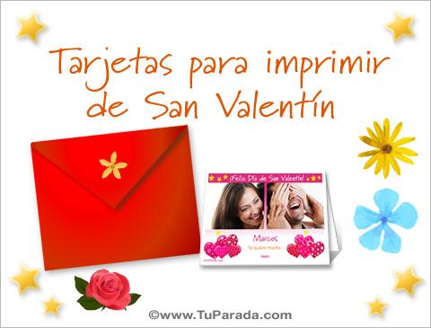 Tarjetas para imprimir de San Valentín