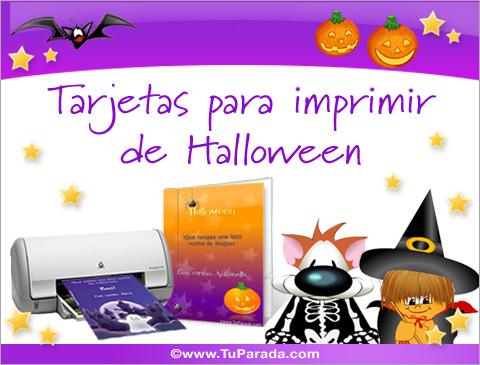 Tarjetas de Tarjetas para imprimir de Halloween