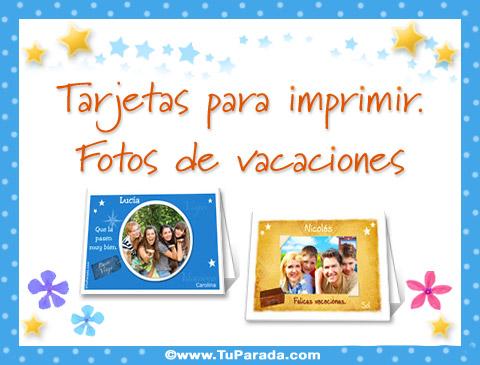 Tarjetas de Tarjetas con fotos de vacaciones