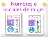 Tarjetas postales: Mujer - Nombres propios
