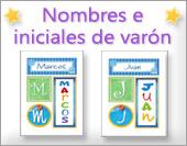 Tarjetas postales: Varón - Nombres propios