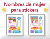 Tarjetas, postales: Nombres mujer, stickers