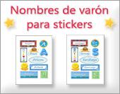 Tarjetas, postales: Nombres varón, stickers