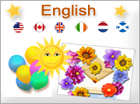 Greeting ecards: English