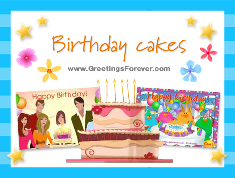Birthday cakes ecards