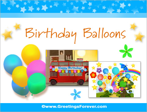 Birthday Balloons ecards