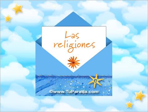Tarjetas de Religión Cristiana - Católica