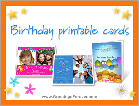 Ecards  Birthday printable cards