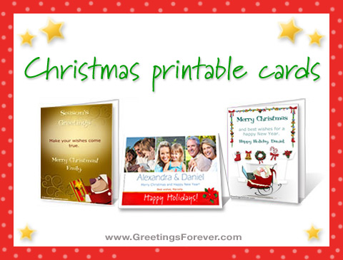 Ecards  Christmas printable cards