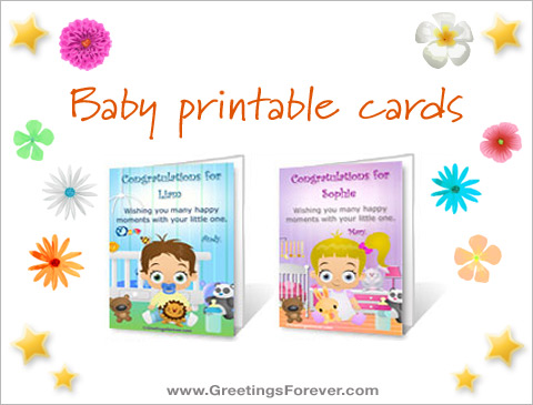 Baby printable cards