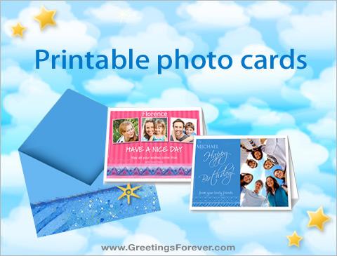 Printable photo cards