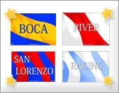 Tarjetas, postales: Equipos argentinos