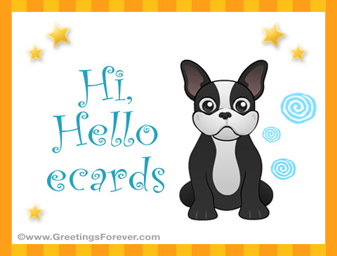 Tarjetas de Hi - Hello