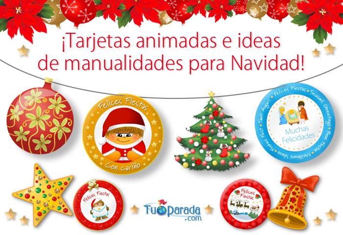 Manualidades de navidad ideas para las fiestas - Tarjetas de navidad manuales ...