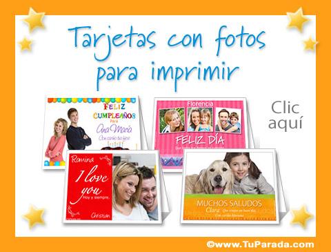 Tarjetas con fotos para imprimir