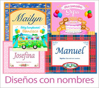 Tarjetas, postales: Nombres