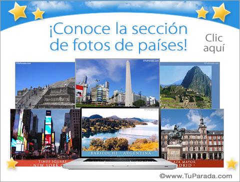 Tarjetas de Fotos de países