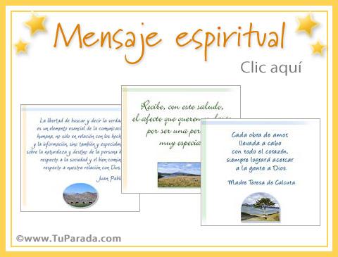 Tarjetas de Mensaje espiritual