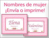 Tarjetas, postales: Nombres Mujer