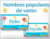 Tarjetas, postales: Nombres populares Hom.