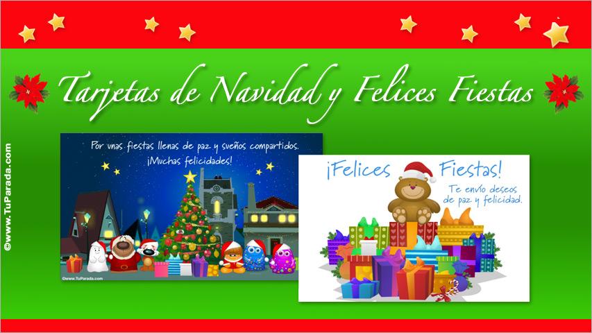 postales de navidad y felices fiestas