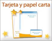 Tarjetas personales y papeles para imprimir