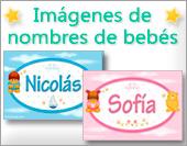 Tarjetas, postales: Nombres de bebés con oso