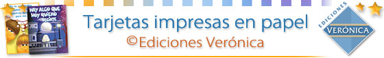 Tarjetas impresas Ediciones Verónica