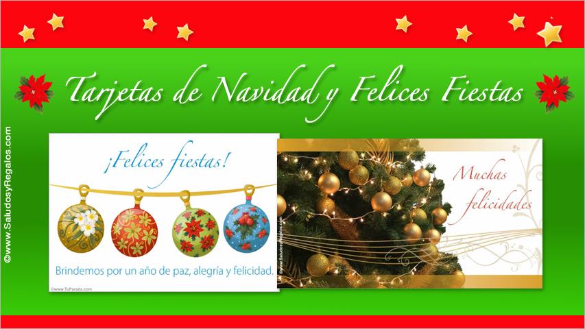 Navidad y Felices Fiestas