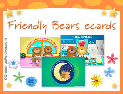 Friendly Bears ecards