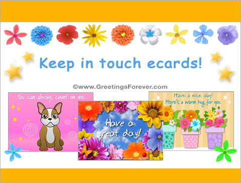 Keep in touch ecards