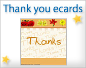 Greeting ecards: Thank you
