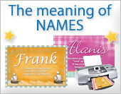 Greeting ecards: Meaning of names