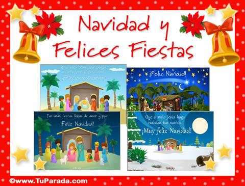 Tarjetas de Pesebres navideños