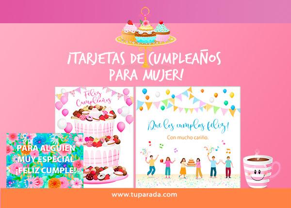 Tarjetas de Cumpleaños para mujeres