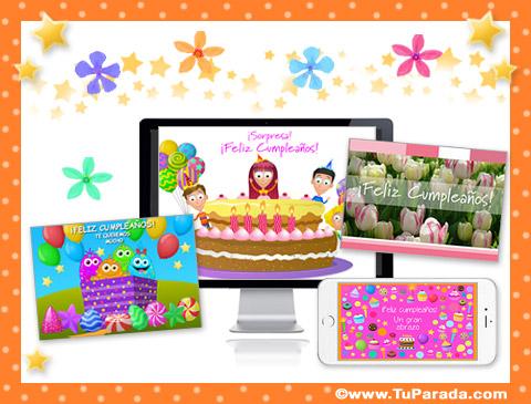 Tarjetas de Flores para cumpleaños