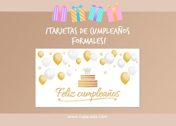 Tarjetas de Cumpleaños formales