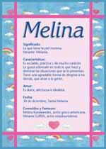 Nombre Melina