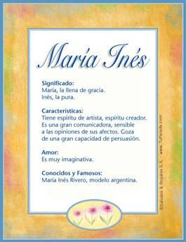 Nombre María Inés