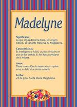 Nombre Madelyne