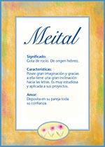 Nombre Meital