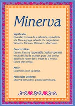 Nombre Minerva