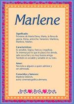Nombre Marlene