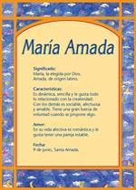 Nombre María Amada