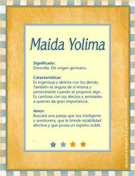 Nombre Maida Yolima