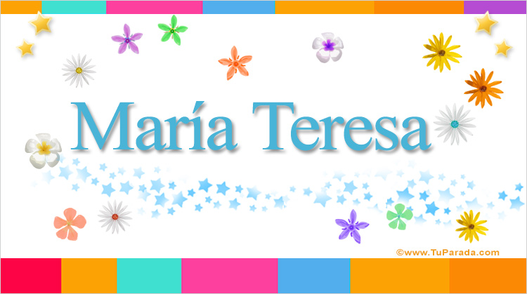María Teresa, imagen de María Teresa